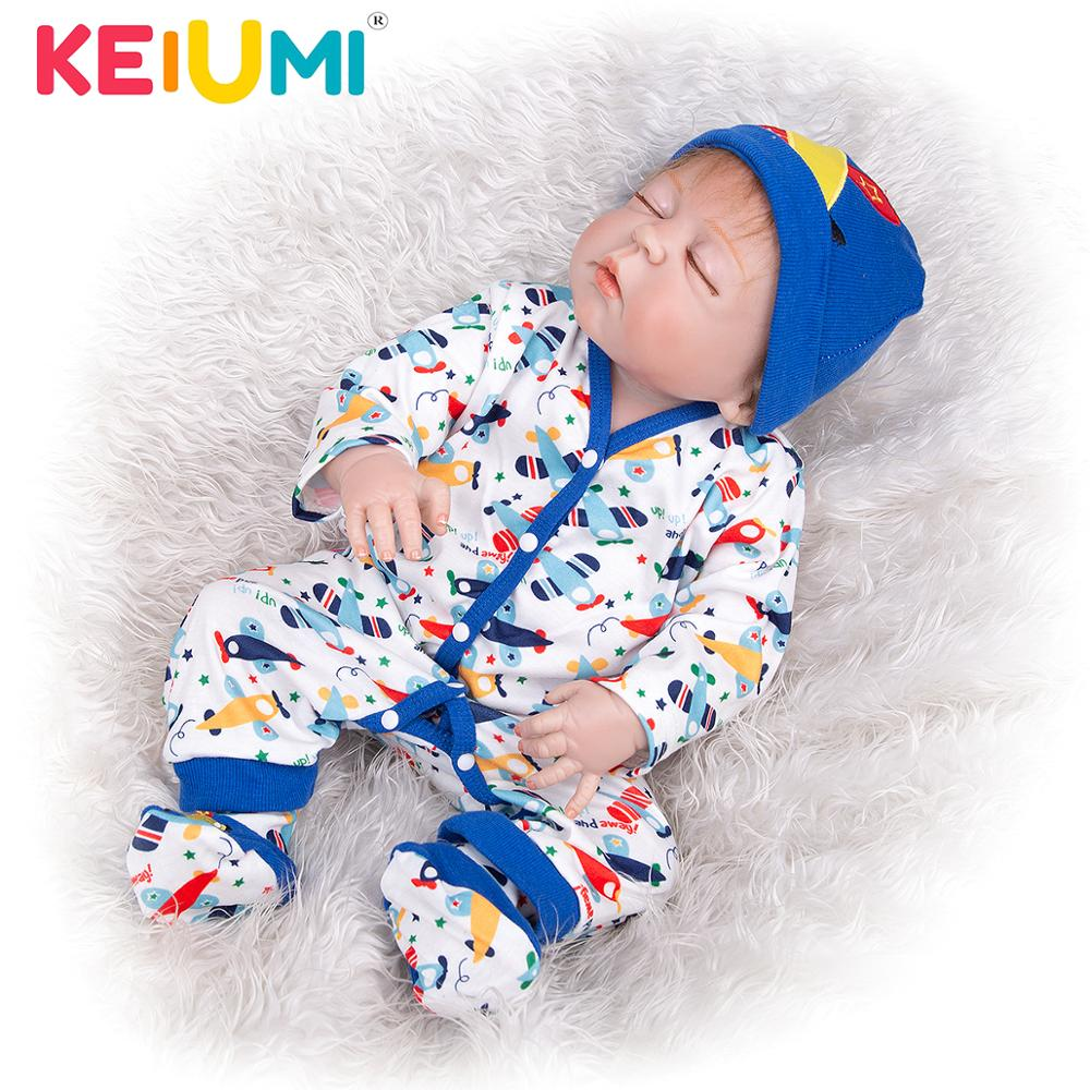 23 Inch Limited Collection Reborn Dolls 57 cm Whole Silicone Vinyl Realistic Sleeping Boy Baby Doll Toy For Child Birthday Gift