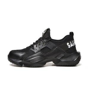 Image 4 - Dewbest 불멸의 라이더 신발 남성과 여성 강철 발가락 공기 안전 부츠 펑크 방지 작업 스니커즈 통기성 신발