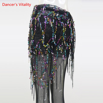 New Style Belly Dance Costumes Sequins Tassel Belts Hip Handkerchief For Women - discount item  45% OFF Stage & Dance Wear