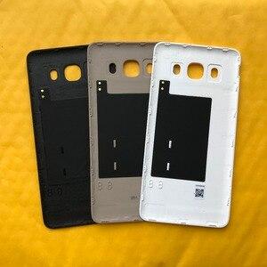 Закаленное стекло + Оригинальный чехол для телефона Samsung Galaxy J5 2016, J510, J510F, J510FN, J510H, J510G, задняя крышка батареи, дверь с NFC