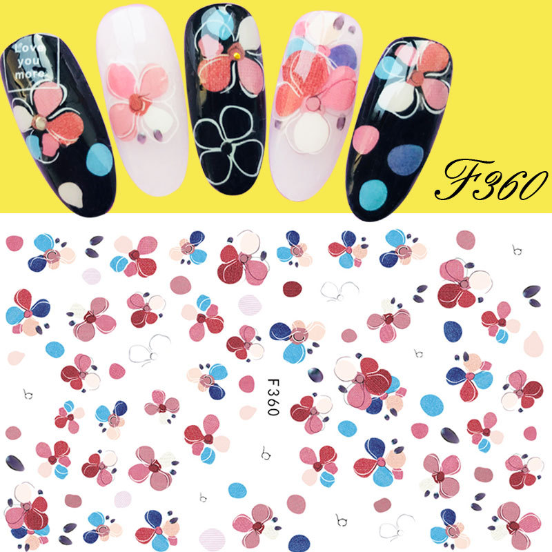 New Style Nail Sticker Embroidery Flower Monroe Nail Sticker Lace Manicure Flower Stickers Japanese-style-Style