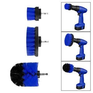 Image 2 - 12 stücke Elektrische Bohrer Reinigung Pinsel Reiniger Combo Tool Kit Power Für Teppich Glas Auto Reifen Nylon Pinsel Wäscher