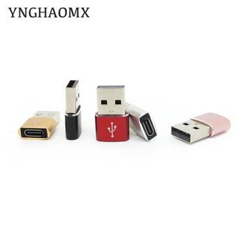 300pcs/lot USB To Type-c Converter Adapter USB 2.0 Adapter Plug Portable Mini Computer Phone Adapter Mobile Phone Converters 1