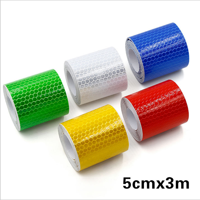 Safety Mark Reflective Tape Stickers Car-styling Self Adhesive Warning Tape Automobiles  Film 5cm*3m