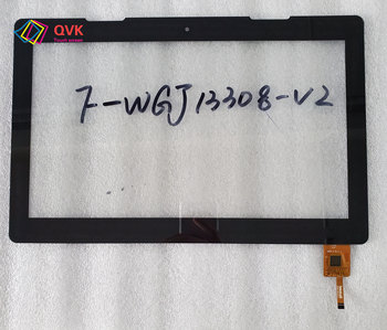 Black touch screen P/N F-WGJ13308-V2 Capacitive touch screen panel repair and replacement parts free shipping