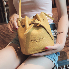 Small Bags Women 2018 New String Bucket Bag Summer Simple Single Shoulder Messenger Women's Bag Handbag