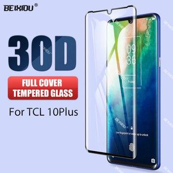 Перейти на Алиэкспресс и купить 30D изогнутое закаленное стекло для TCL 10 Plus защита экрана антибликовое изогнутое стекло для TCL 10 Plus стеклянная пленка