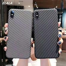ELALA Marble Case on sFor iPhone XR Matte Soft TPU Cover For 6S 7 8 Plus  X Xr Xs Max Texture Full protection Cases
