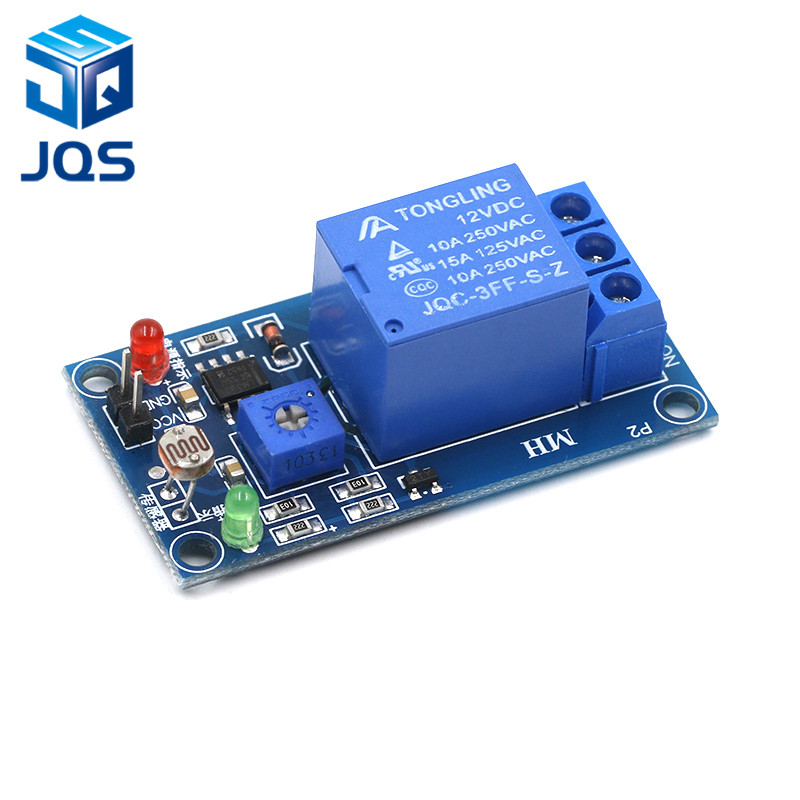 DC 5V 12V Light Photoswitch Sensor Switch LDR Photoresistor Relay Module Light Detection Photosensitive Sensor Board