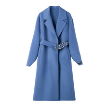 New Double-faced Wool Overcoat Same 2019 Medium-long In Pure Color Long Women Coats