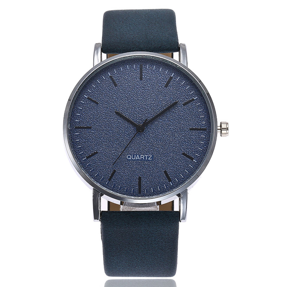VANSVAR Unisex Men Women Matte Dial Wristwatch Leather Band Quartz Wrist Watch  SER88