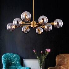 цены Modern Glass Pendant Lights LED Iron Hanging Lamp glod Living Room Bedroom Pendant Lamp Dining Room Loft Home kitchen Luminaria