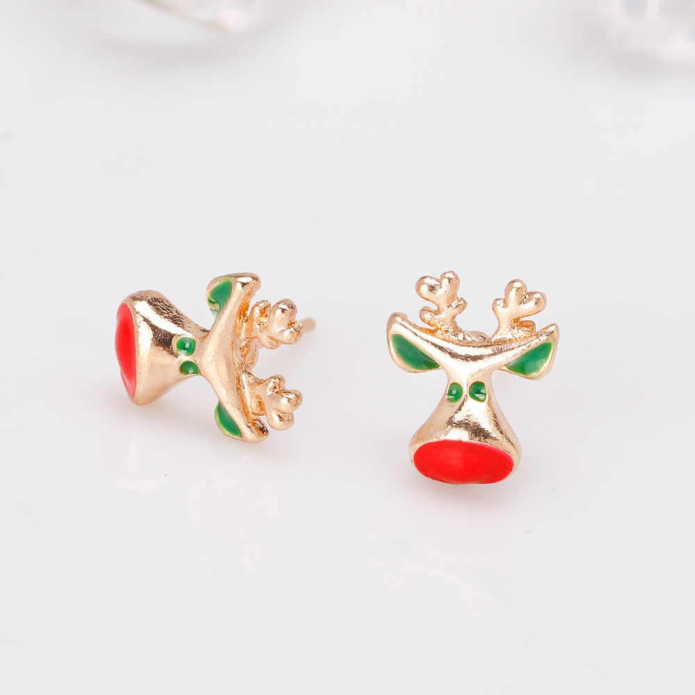 Модные женские серьги в виде Санта Клауса, снеговика, милого дерева, колокольчика, новогоднего, рождественского подарка для женщин, девочек, детей, праздничные украшения