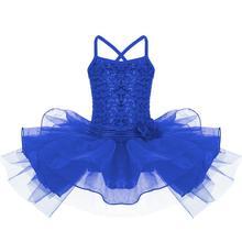 Cute Child Girls Flower Sequins Ballet Leotard Tutu Ballerina Skirt Dancewear Gym Costume Dance Dress Kids Girls Ballet Dress цена 2017