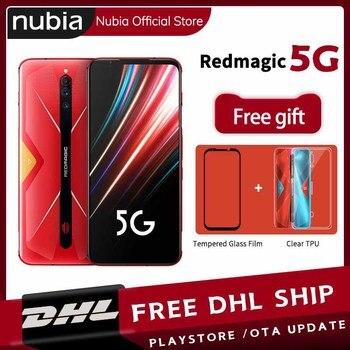 Купить Глобальная версия Nubia Red Magic 5G мобильный телефон 6,65 дюймов 12 Гб 128 ГБ Snapdragon 865 Android 10 NFC игровой телефон WIFI 6