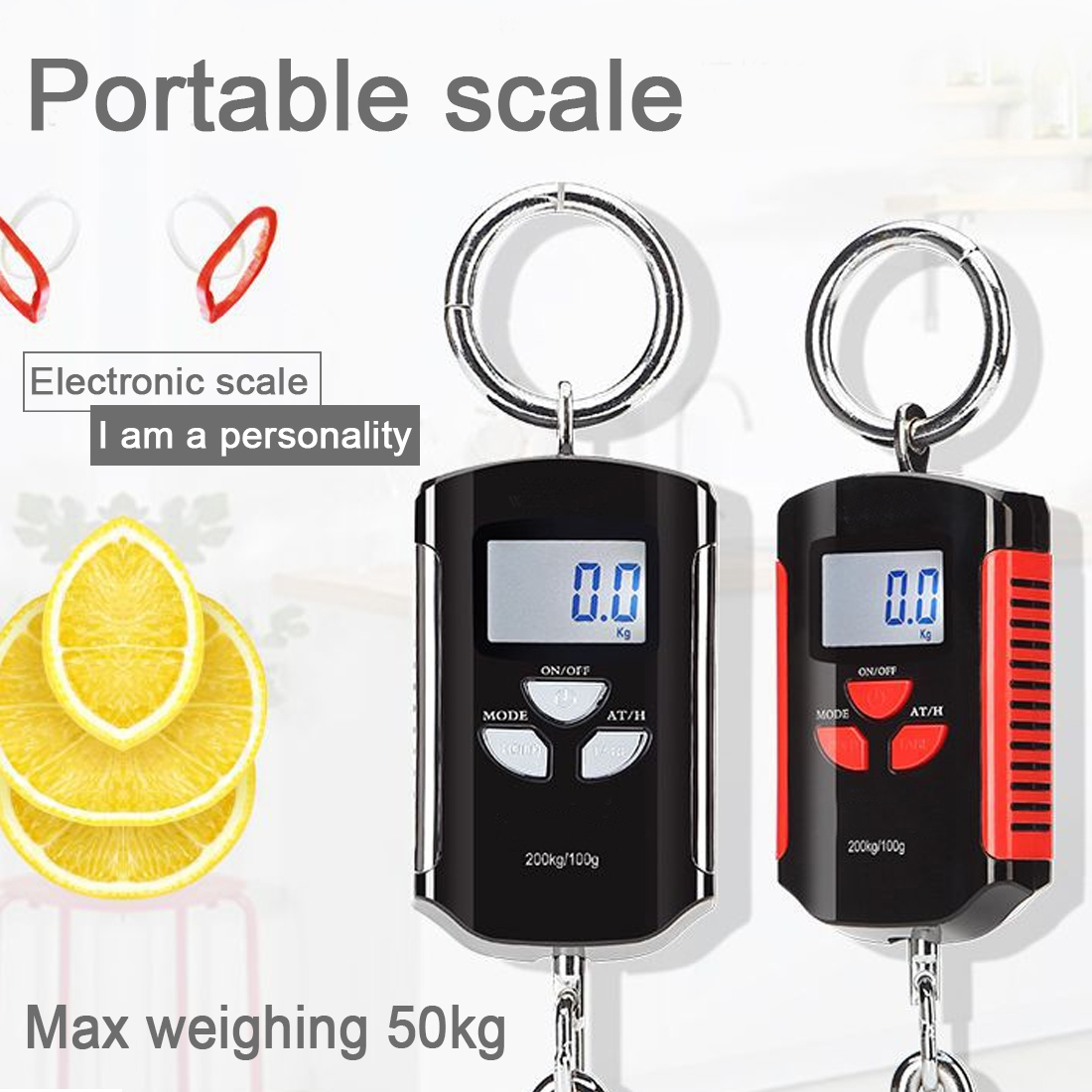 Mini Portable Hanging Crane <font><b>Scale</b></font> <font><b>200kg</b></font>/100g <font><b>Digital</b></font> Heavy Duty <font><b>scale</b></font> Industrial Hook <font><b>Scale</b></font> Electronic Weighing Balance image