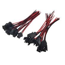 20 комплектов 10 см длинные JST SM 2 шпильки штекер 25 штекер до 25 женский быстрый соединитель провода клеммный блок 2 способа легко подходит для светодиодной ленты