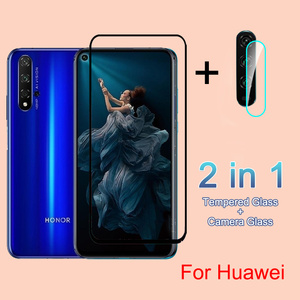 Full Cover Tempered Glass For Huawei Honor 8A 8X 9X 10 20 Lite 10i 20 Pro P smart Z 2019 Nova 5T Camera Screen Protector Glass(China)