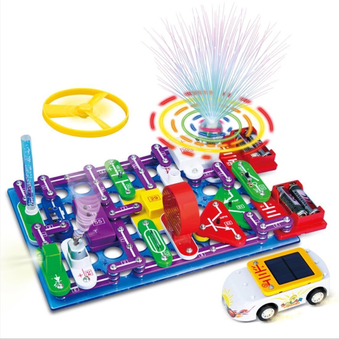 DIY электронные строительные блоки цепи собранные кирпичи цепи научная игрушка строительство и строительство игрушки блоки