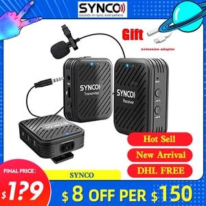 Image 1 - Беспроводной петличный микрофон SYNCO G1 G1A1 G1A2, передатчик для смартфонов, ноутбуков, DSLR, планшетов, видеокамер, рекордер pk comica
