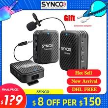 Synco g1 g1a1 g1a2 sem fio microfone de lapela transmissor rec. para smartphone portátil dslr tablet filmadora gravador pk comica