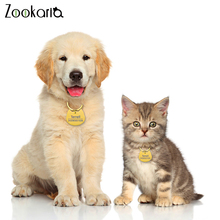 personalized pet id tag dog cat nameplate aluminum collar accessories free customized engraving tags Anti-lost Free Engraving Pet ID Tag Pet Cat Collar Accessories Decoration Personalized Collars Cat Tags Engraved Tel Name Tag