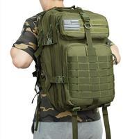 Grande Zaino 50L Capacità Degli Uomini di Esercito Militare Tattico Impermeabile Sport Esterno di Campeggio D'escursione di Viaggio 3D Zaino Borse Per Gli Uomini