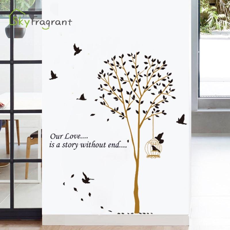 Creative DIY Nordic Triangle Mountain Wall Stickers Home Decor Living Room Bedro