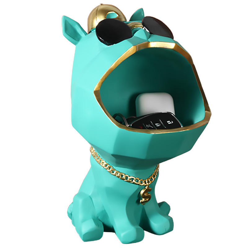 Big Mouth Dog Resin Statue Storage Box Nordic Home Decoration Accessories Ornamental Figurines Just6F