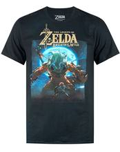 The Legend Of Zelda Breath Of The Wild Moonlight Men's Black T-shirt Cartoon t shirt men Unisex New Fashion tshirt(China)