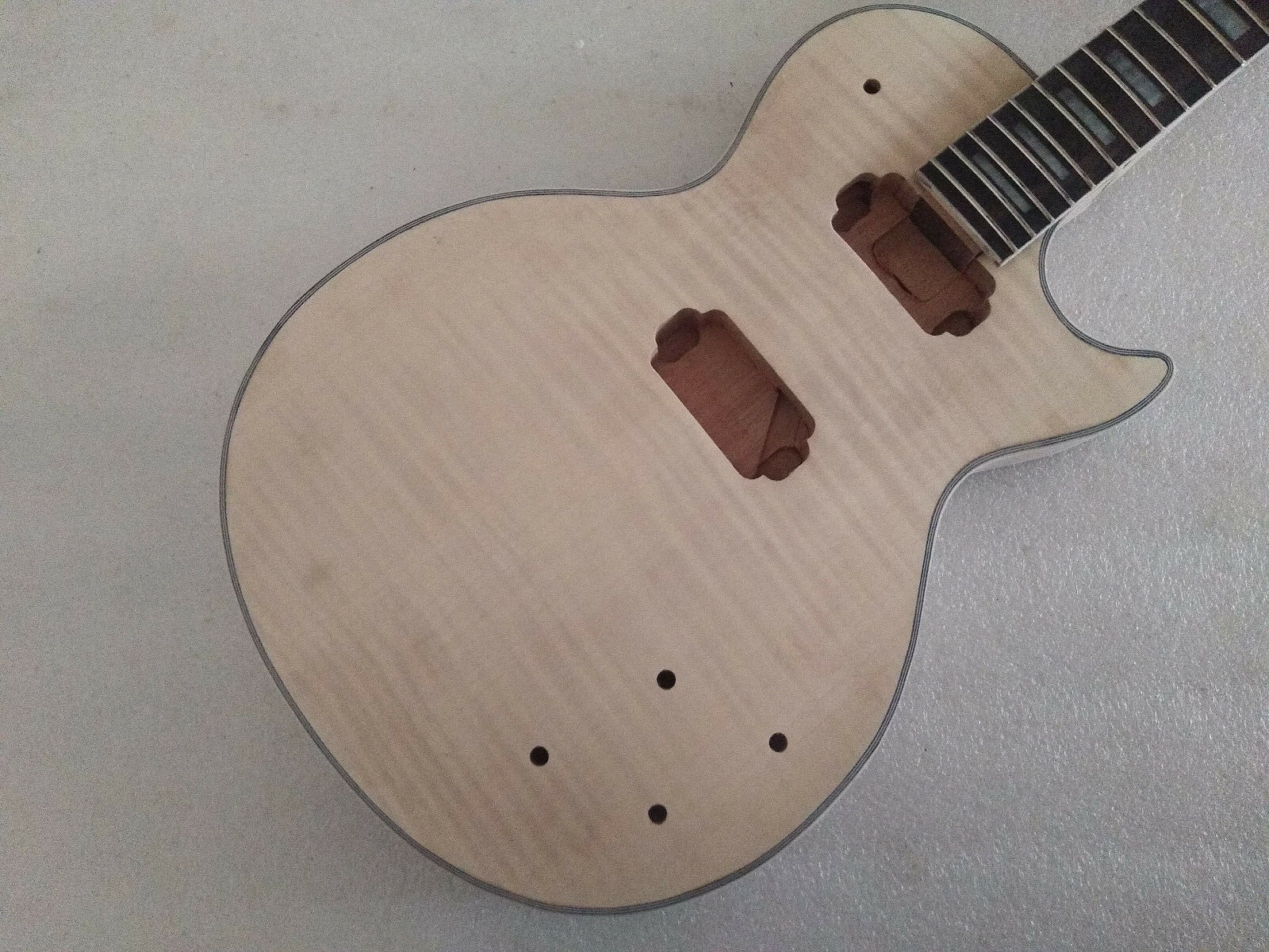 1 Set Unfinished Guitar Neck And Body For LP Style Guitar Kit