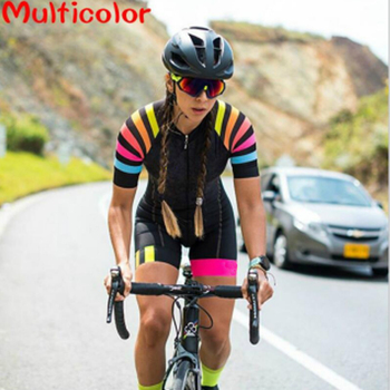 Women's Triathlon Short Sleeve Cycling Jersey Sets Skinsuit  1