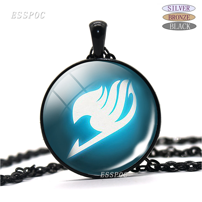 silver/bronze/black fashion pendant Fairy Tail Fate Stay Night Anime Game glass dome Necklace Saber Archer Assassin Rider