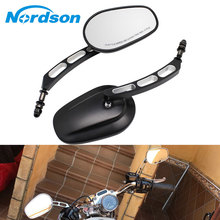 Nordson Universal 1 Pair Motorcycle Mirrors Side Rearview Mirror 8mm Motorcycle Moto Mirror Aluminum Black for Harley Davidson