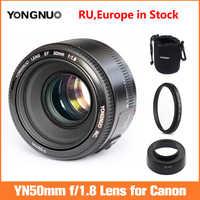YONGNUO-Apertura de lente YN EF 50mm f/1,8 AF, enfoque automático YN50mm f1.8, para Canon 600D 650D 5D2 5D3 5D4 700D 450D 550D 1100D ETC.