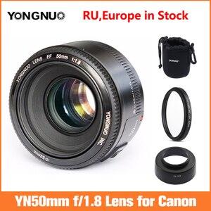 Image 1 - YONGNUO YN EF 50mm f/1.8 soczewki AF przysłony automatyczne ustawianie ostrości YN50mm f1.8 obiektyw do modeli Canon EOS lustrzanki cyfrowe