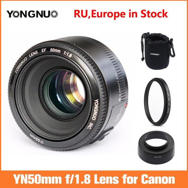 YONGNUO YN EF 50mm f/1.8 soczewki AF przysłony automatyczne ustawianie ostrości YN50mm f1.8 obiektyw do modeli Canon EOS lustrzanki cyfrowe