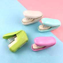 Creative Staple-Free Stapler Candy Color Office School Student Stationery Paper File Binding Machine Stapling Tools Supplies
