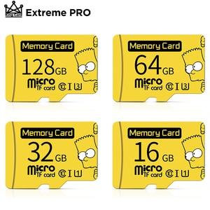 Bart Simpson Micro SD card 16G 32G class 10 microsd 64G 256G U3 4K High Speed cartao de memoria Flash Memory Card 128gb TF card