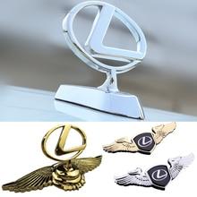 For Lexus Logo IS200 IS250 RX300 RX330 RX350 ES300 ES350 RX NX GS GS300 GS350 3D Auto Front Hood Emblem Sticker Car Accessories