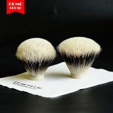 OUMO BRUSH-SHD WT(White tip) Finest two band fan bulb badger hair knots gel tip shaving brush