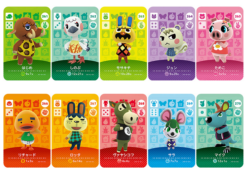 New English Version Amiibo Card NS Game Series 3 (241 To 280) Animal Crossing Card Work For