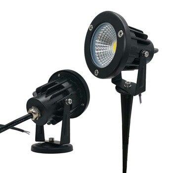 10pcs חיצוני COB LED דשא ספייק אור עמיד למים גן אור 220V 110V 3W 7W 9W 5W IP65 בריכת נתיב נוף זרקור נורות