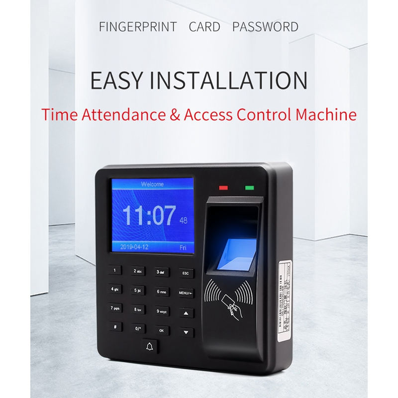 M10 Security Alarm Fingerprint Door Access Control Machine With LCD Screen Smart Door Bell