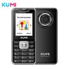 Kumi desbloqueado característica celular com termômetro infravermelho flashlig sênior crianças duplo sim cartão celular bluetooth