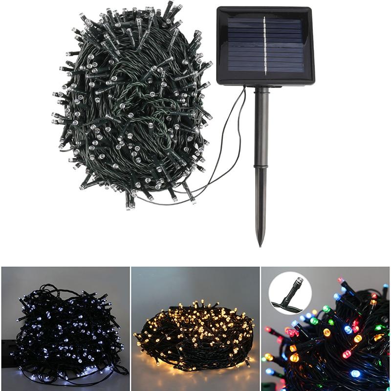 22M 50M Christmas Garland Led Fairy Light Outdoor Solar Powered String Lights 3 Mode Garden Wedding Decoration Waterproof