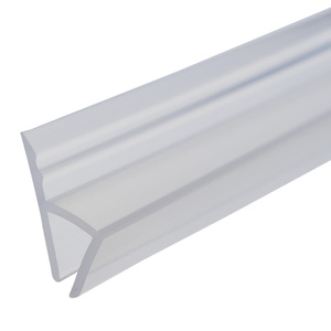 Image 4 - 1M Silicone shower screen seal Sliding Strip F U H Shape Rubber glass door Seals Window Weatherstrip for 6/8/10/12 mm glass