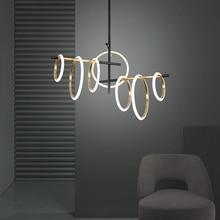 Postmodern LED Chandelier lighting living room Pendant Lamp bedroom dining home deco Ring Magnetic attraction Hanging Lights
