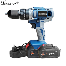 4000Mah 13mm 21V Impact Cordless Drill Dual Speed  Electric Screwdriver Battery Drill Power Tool Drill Screwdriver For DIY Home