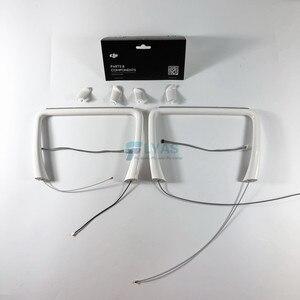 Image 3 - Orijinal DJI Phantom 4 vücut kabuk üst orta kapak iniş takımı pusula DJI Drone için yedek parçalar